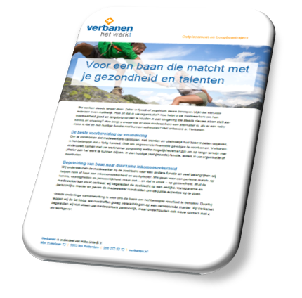 Download infobrochure Verbanen Outplacement en Loopbaantraject